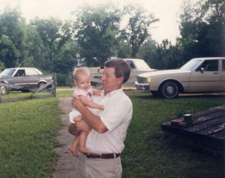 Dad and Baby Megan '86